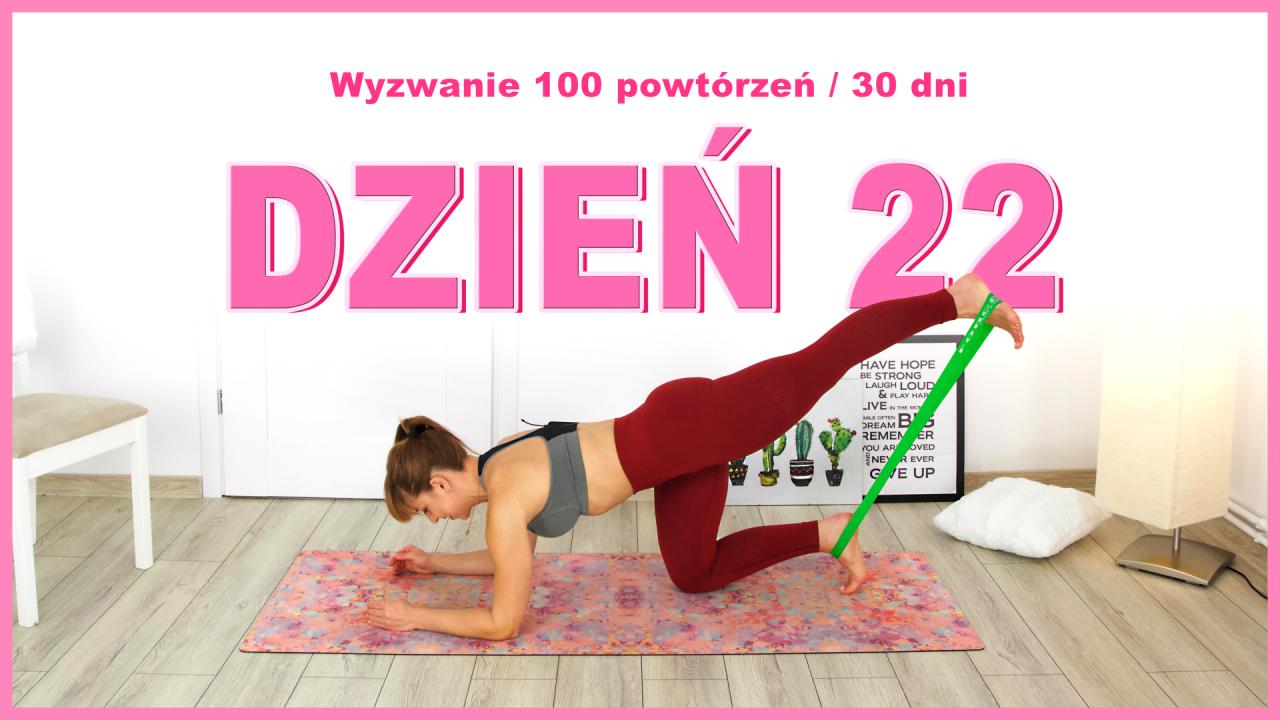 Dzień 22: Wypychanie nogi w klęku na łokciach | Wyzwanie 100x