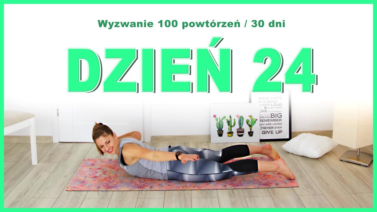 Dzień 24: Skręty z prostowanie ręki w leżeniu | Wyzwanie 100x