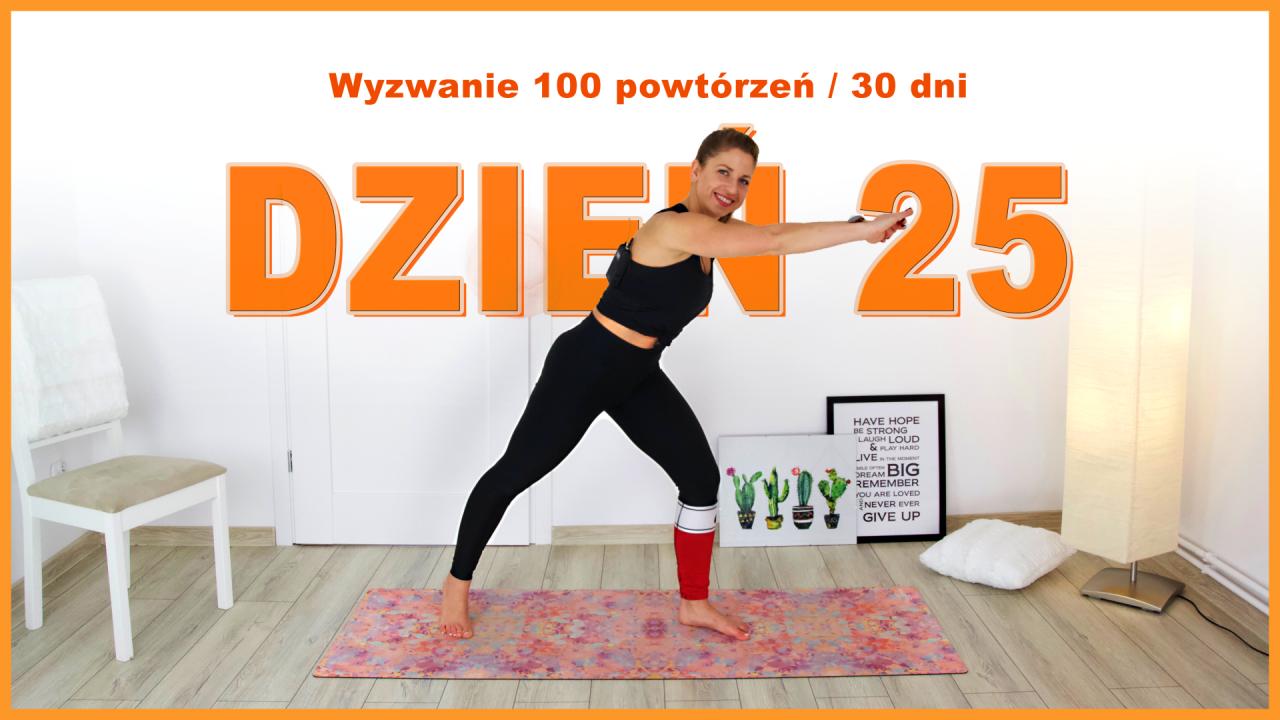 Dzień 25: Szybkie dotykanie do kolana i pięty | Wyzwanie 100x