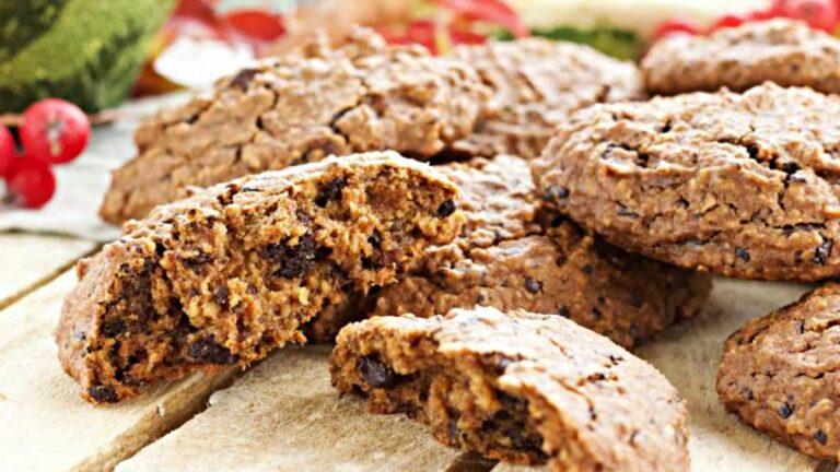 Owsiane ciasteczka korzenno-dyniowe
